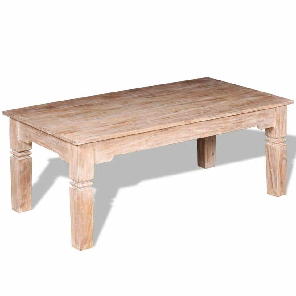 Tavolino da Caffè in Legno Massello di Acacia 110x60x45 cm 5