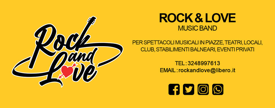 """Intrattenimento musicale """"Rock and Love Music..."""