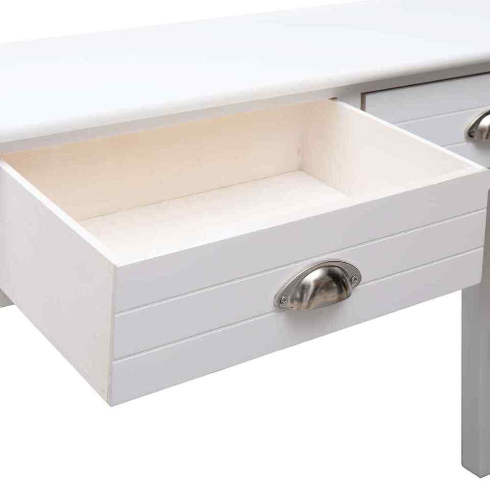 Tavolo Consolle Bianco 90x30x77 cm in Legno 6