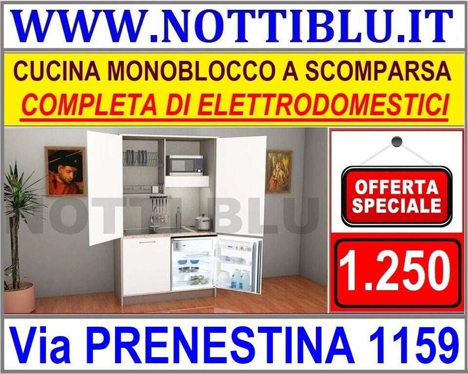 Cucina Monoblocco L 124 cm IN PROMOZIONE _ PRONTA...