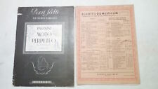 Spartiti e partiture musicali dal 1930 al 1960