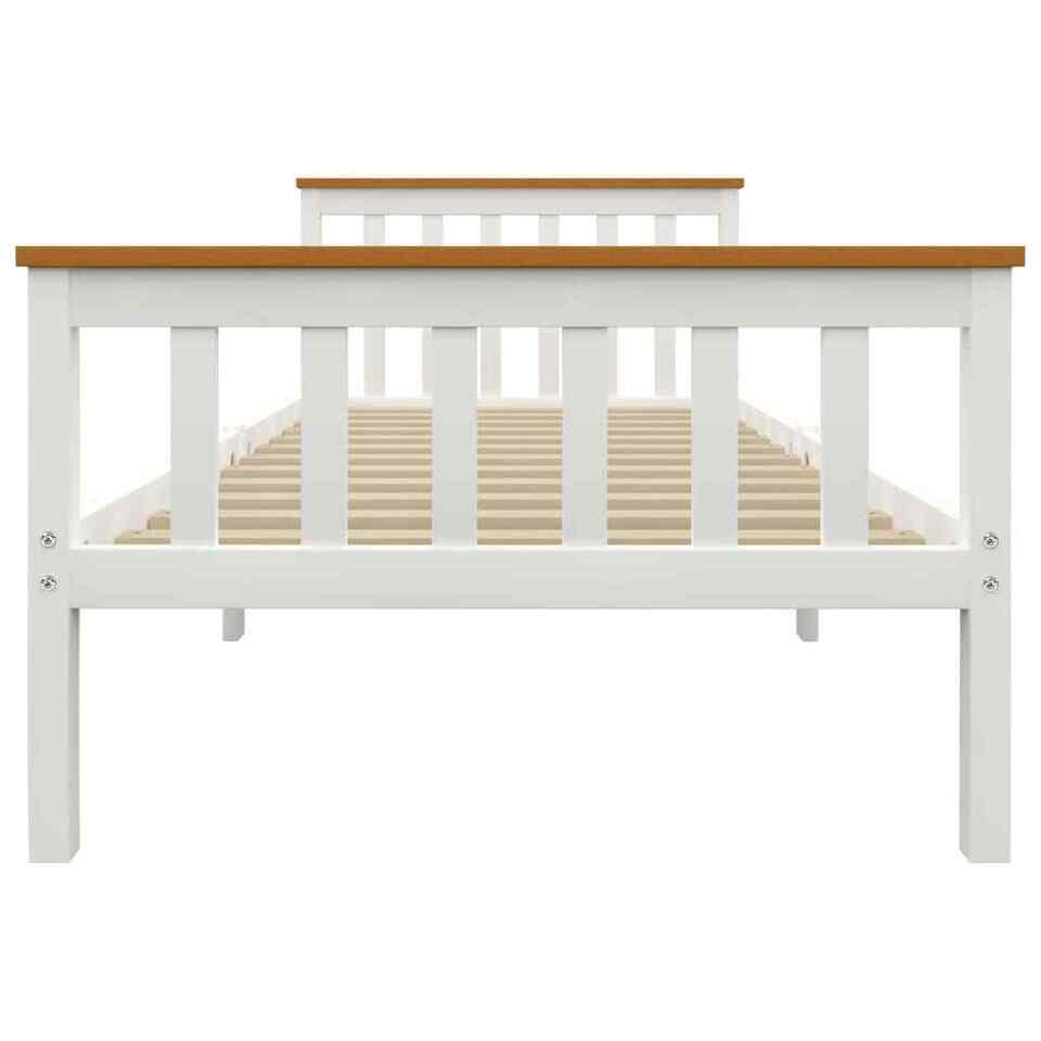Giroletto Bianco in Legno Massello di Pino 90x200 cm 3