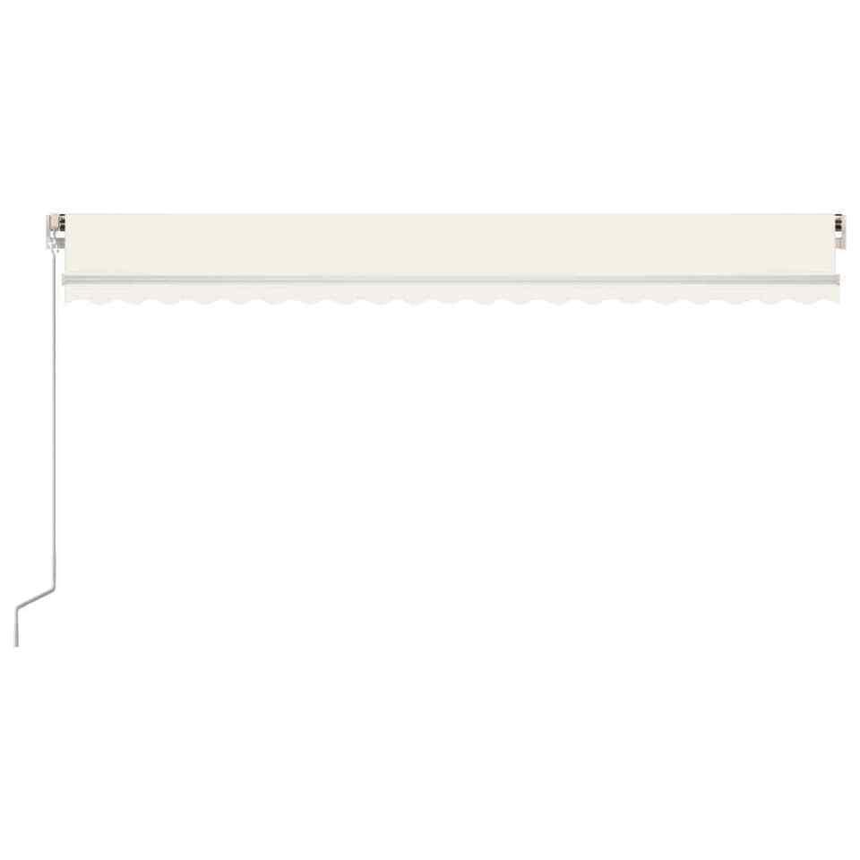 Tenda da Sole Retrattile Manuale LED 500x350 cm Crema 4
