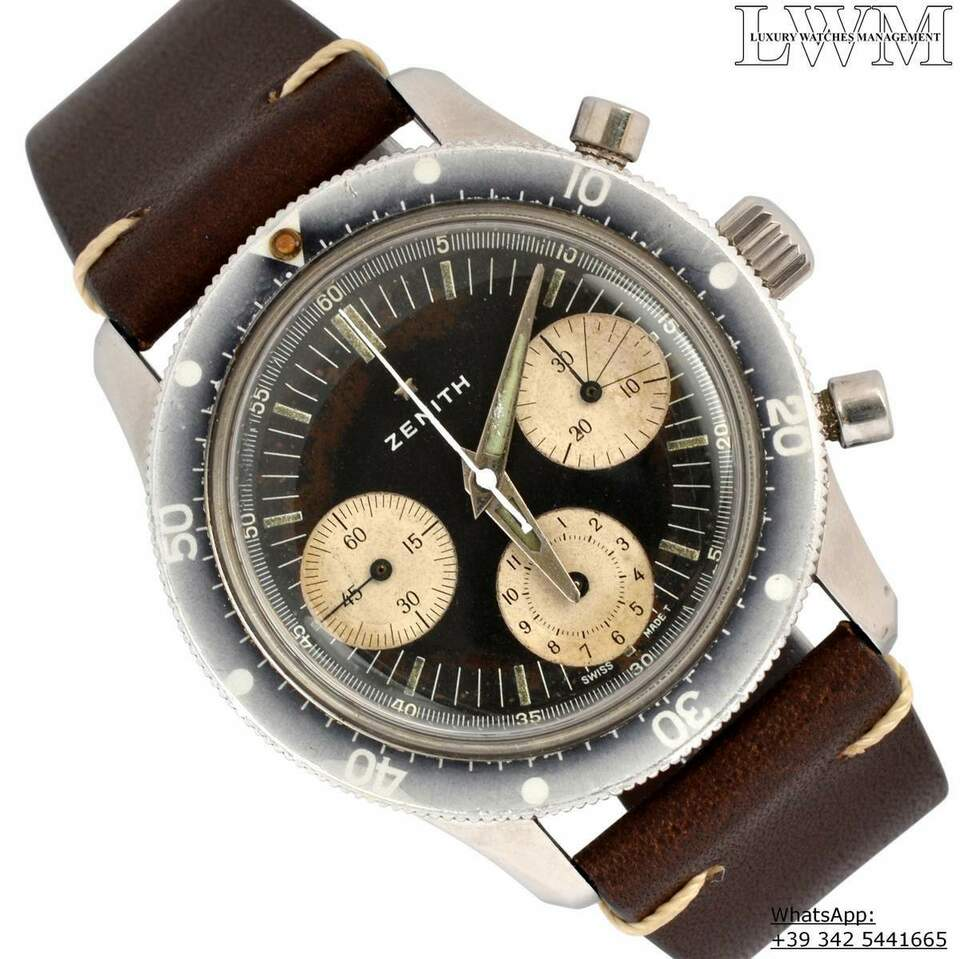 ZENITH Chronograph A277 Sub Sea Diver first series Ghost 1960