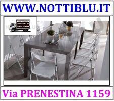 Tavolo Consolle Trasformabile V111 con 4 allunghe in melaminico