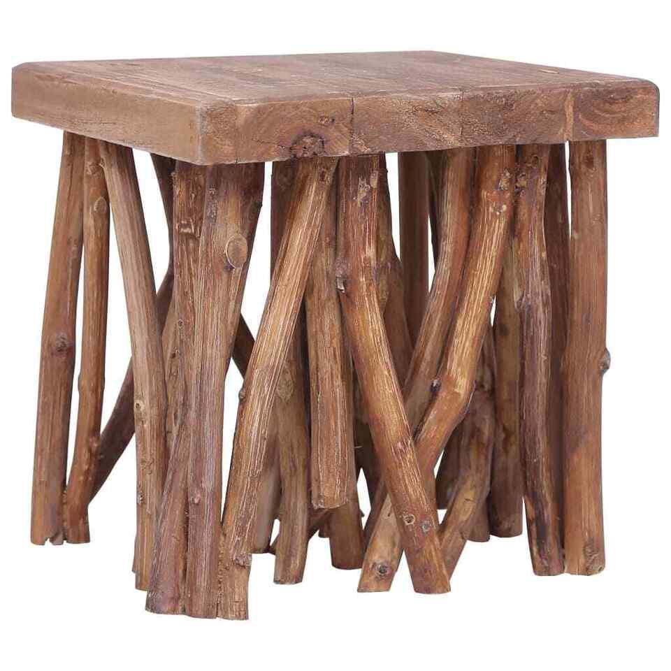 Tavolino da Caffè 40x40x40 cm in Legno Massello 7