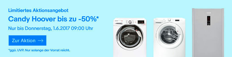 Candy Hoover Aktion bis zu -50%
