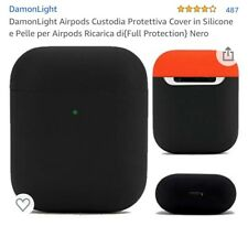 2 Cover per Apple AirPods 1-2 una Damonlight nera-rossa,KwMobile nera