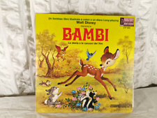 Libro illustrato con disco LP film BAMBI DISNEY anni 60 come nuovo.