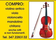 Cerco: Violino acquisto, viola, violoncello, mandolino antichi