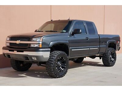 silverado lifted cab chevy ext z71 1500 4x4 chevrolet cam backup whls xd 2004 bose audio clean under call texas