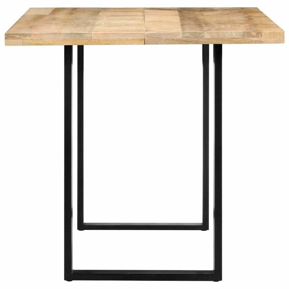 Tavolo da Pranzo 140x70x76 cm in Legno Massello di Mango 4
