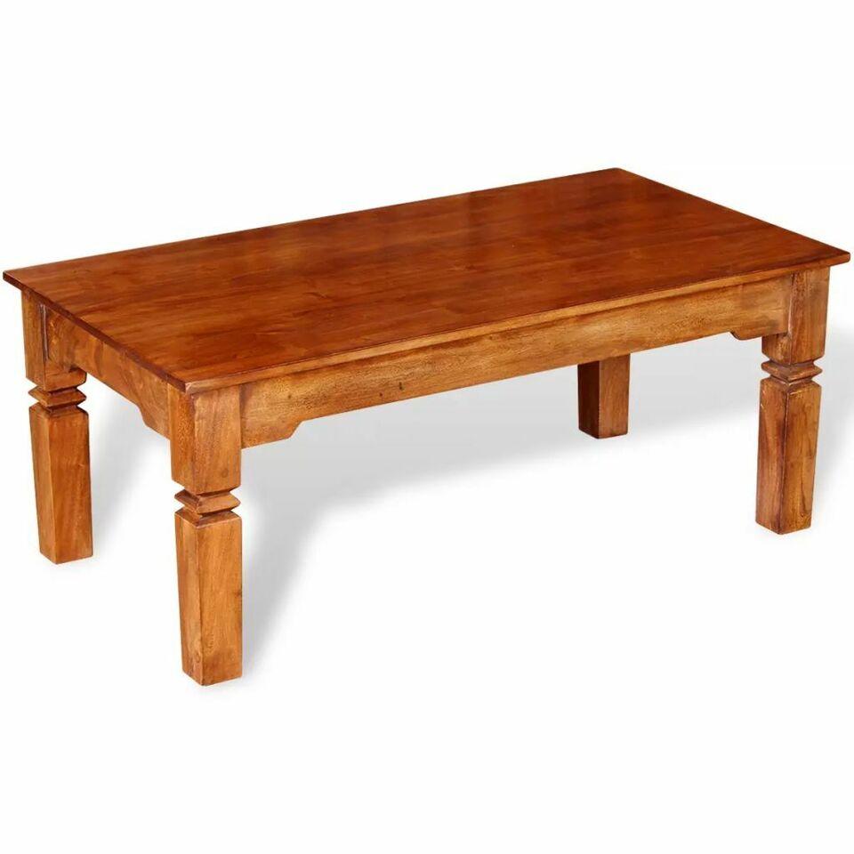 Tavolino da Caffè in Legno Massello 110x60x45 cm 3