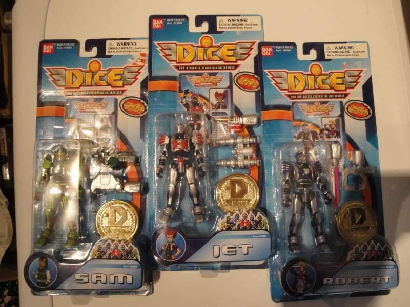 Dice action figures bandai