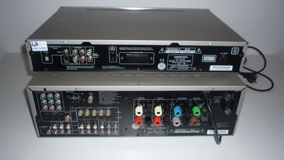 Radio tangent dab -rds , stereo ONKYO -casse -subwoofer 4