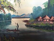 Quadro arte olio su tela pittore dinga samuel
