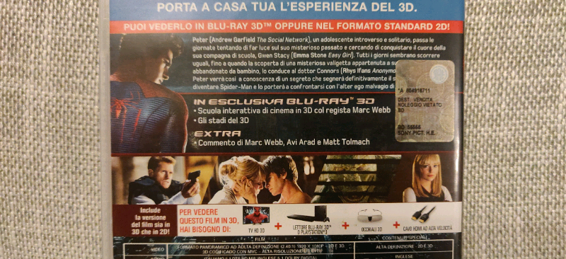 2012 e Spider-Man in 3D in Blu Ray 4