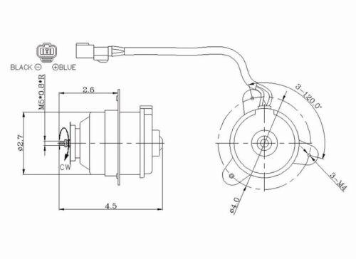 92 01 honda cr v radiator condenser cooling fan motor
