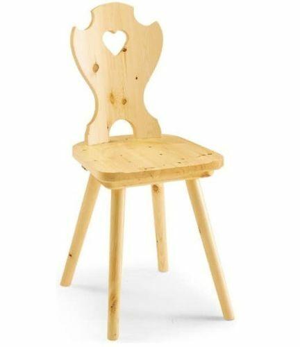 Sedia tirolese in pino con sedile legno massello 2