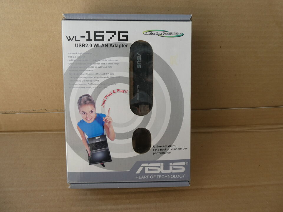 ASUS wl-167g Adattatore USB 2.0 up to 54 Mbps...