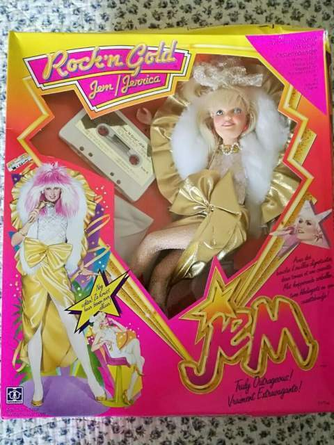 Bambole Jem & the Holograms Hasbro Doll Boxed Vintage Rock Music