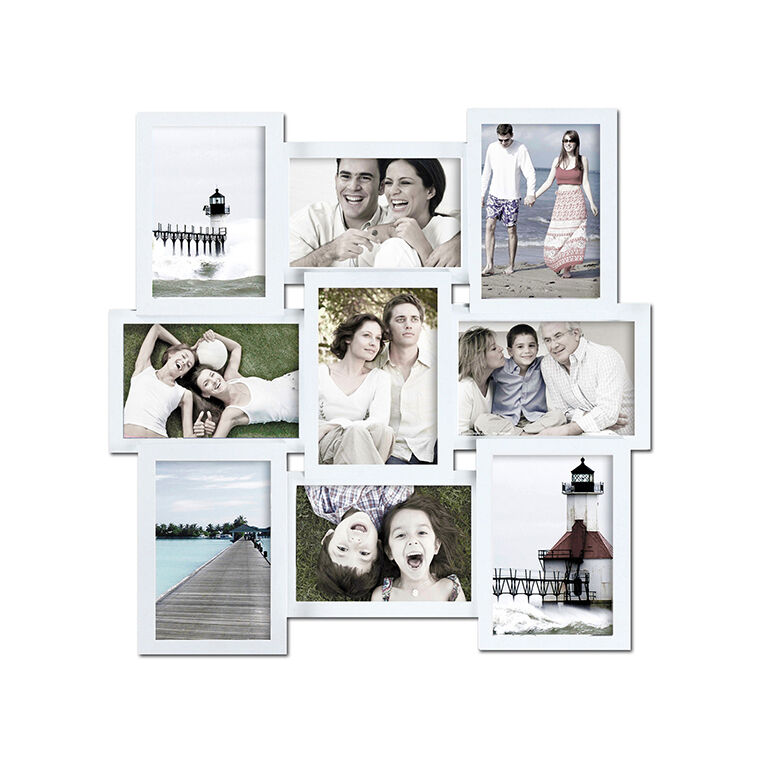 photo collage frames not only make great accompaniments to other wall hangings and home decor these frames can also be attractive centerpieces a large