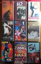 U2 - Numb, Popmart, Zoo TV, Rattle and hum, Under a blood red sky VHS