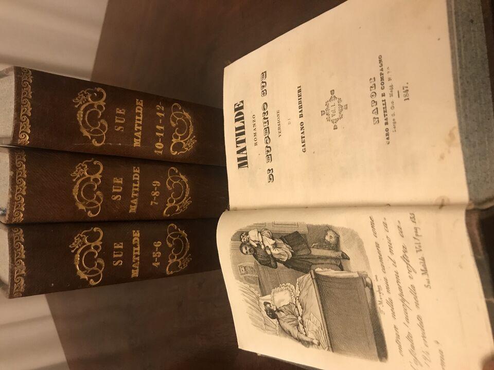 """libro """"matilde"""" di eugenio sue vers. di barbieri 1947 2"""