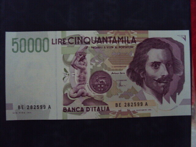 Carta moneta alire 50000 bernini 2