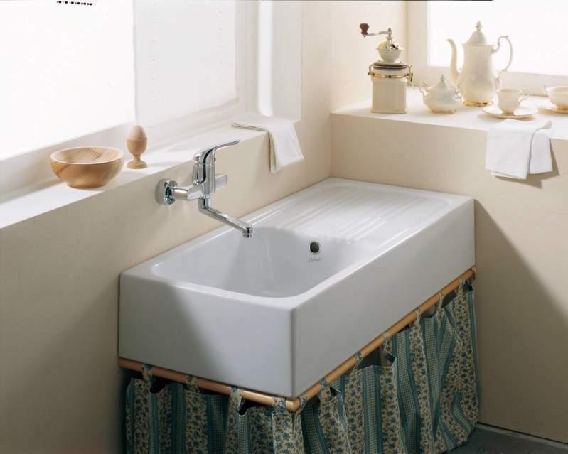 Lavello cucina 100x45 NUOVO da appoggio Canada Ceramica Dolomite