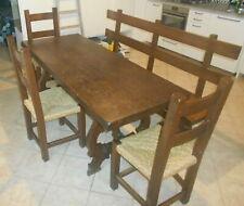 Tavolo fratino + panca + 3 sedie in legno massello arte povera