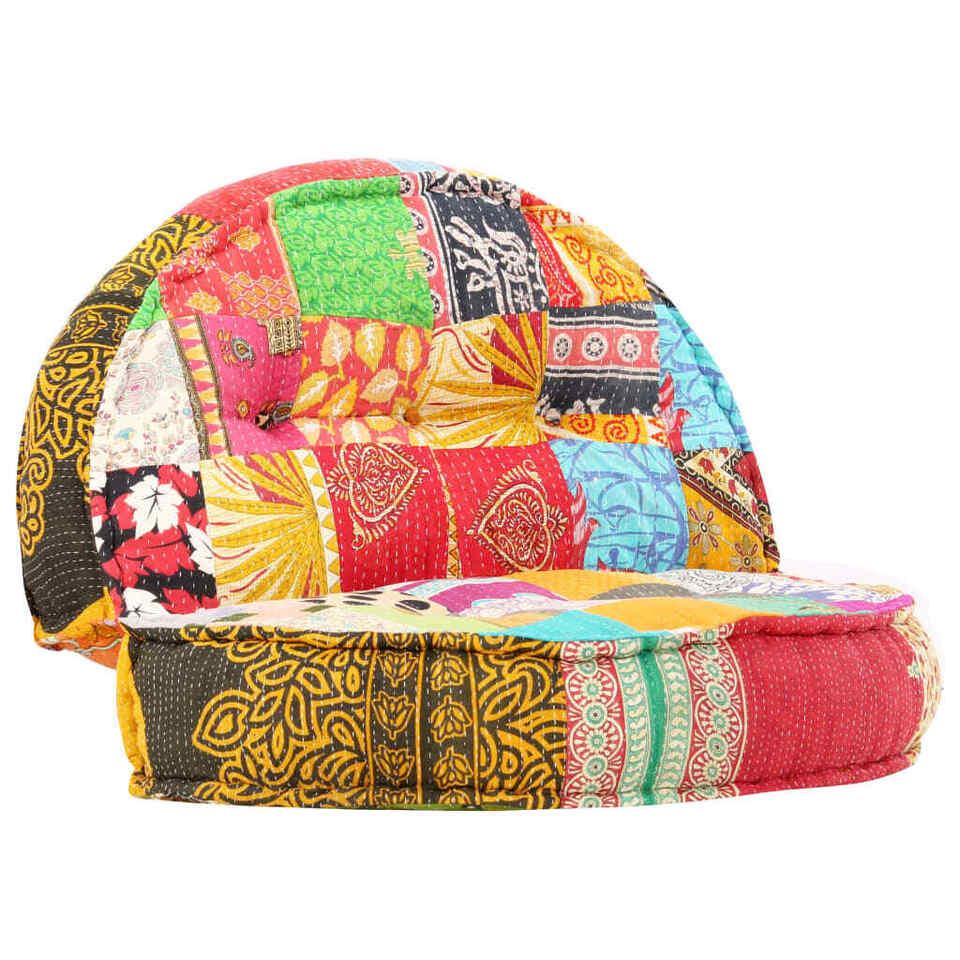 Pouf 100x20 cm in Tessuto Patchwork