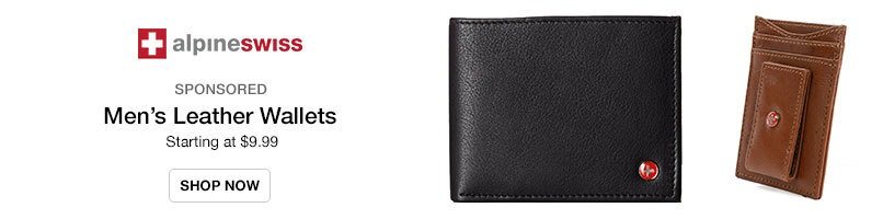Alpine Swiss Men's Wallets Starting at $9.99