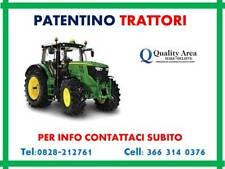 Patentino Trattori Agricoli e Forestali (IN TUTTA ITALIA )