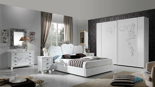 Camera da letto moderna contemporanea