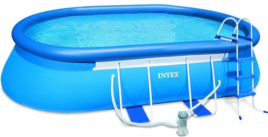 The Intex Oval Frame Swimming Pool Provides Ample Space, Making It A Rival  To Many Other More Expensive Above Ground Pools. This Inflatable Pool Can  Be Used ...