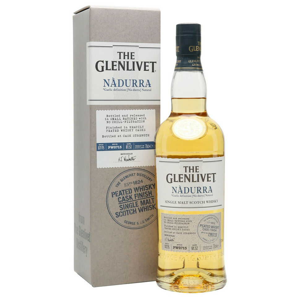 Glenlivet Whisky Nadurra Peated Whisky Cask Finish 1 litro