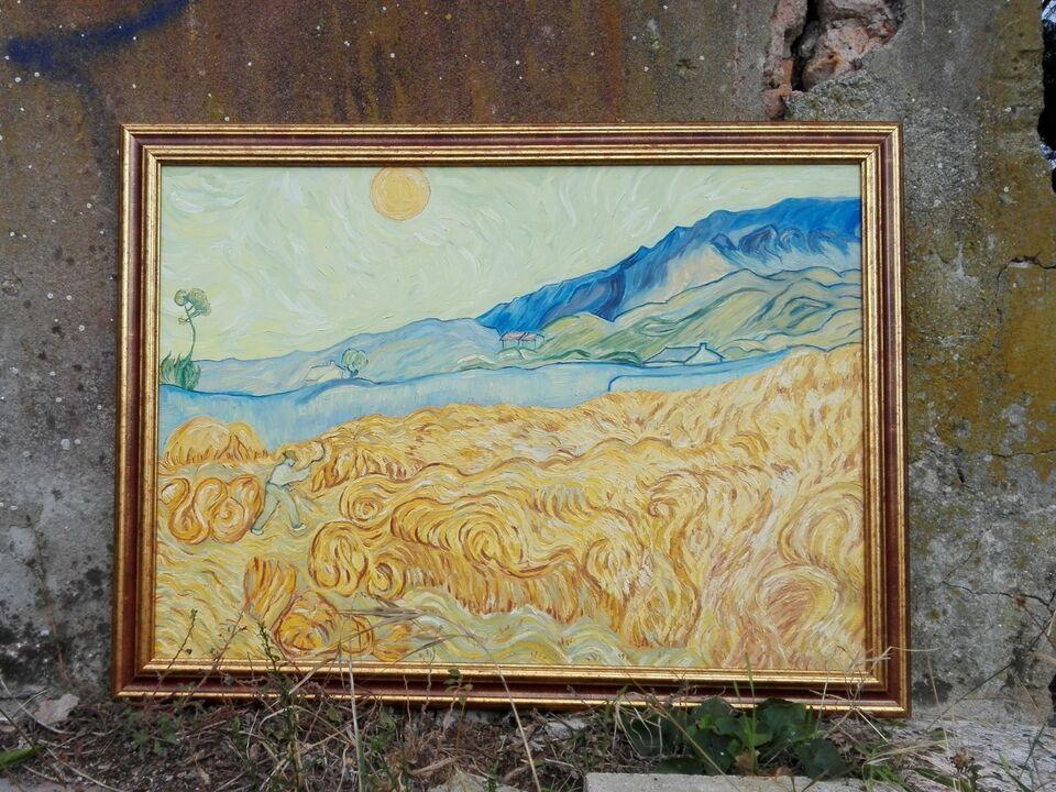 Campo di grano con Mietitore Vincent Van Gogh 1889