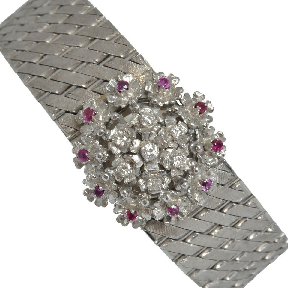 SARCAR GENEVE Lady watch gold rubies and diamond's Full Set