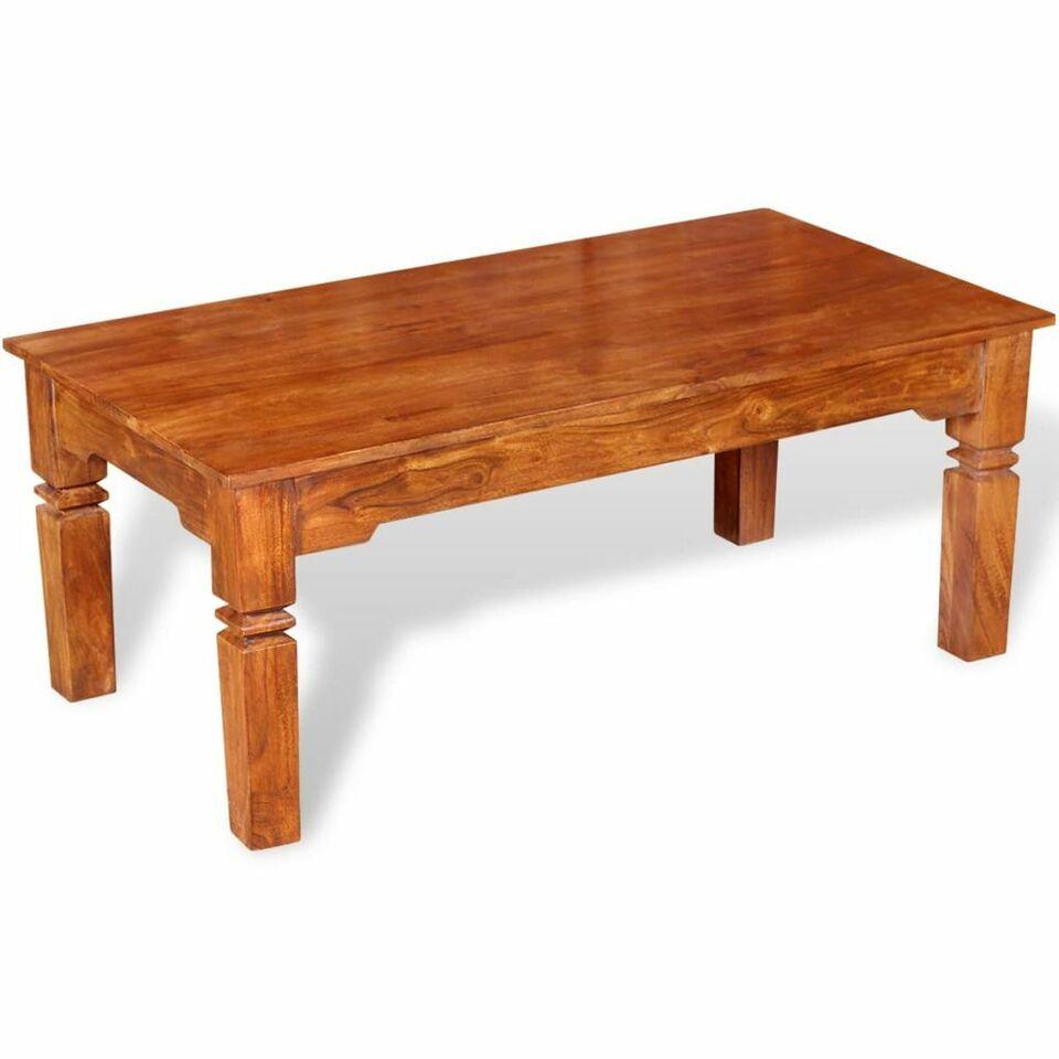 Tavolino da Caffè in Legno Massello 110x60x45 cm