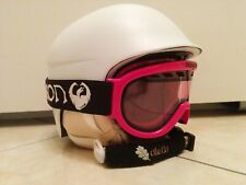 Casco Red e maschera Dragon donna snowboard