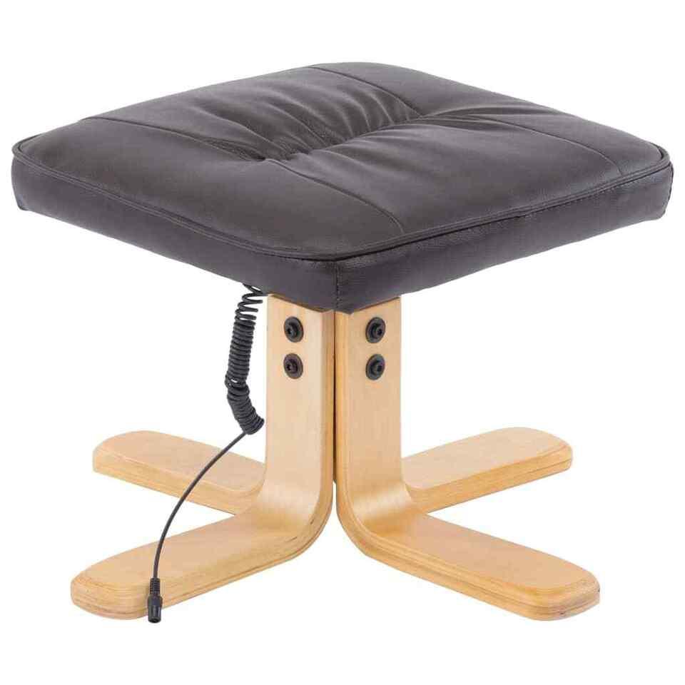 Poltrona Massaggi Reclinabile e Poggiapiedi Marrone Similpelle 8