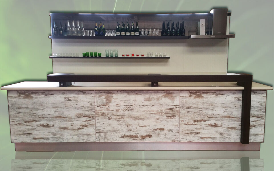Banco bar completo refrigerato usati/fiera campionaria su misura 7