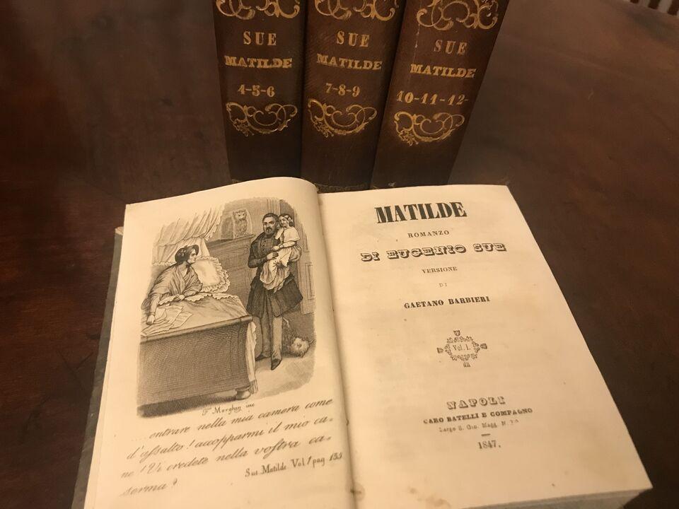 """libro """"matilde"""" di eugenio sue vers. di barbieri 1947 3"""