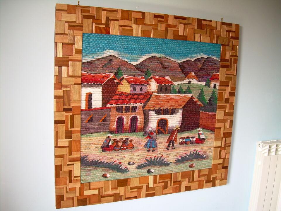 Arazzo perù con cornice artigianale 3