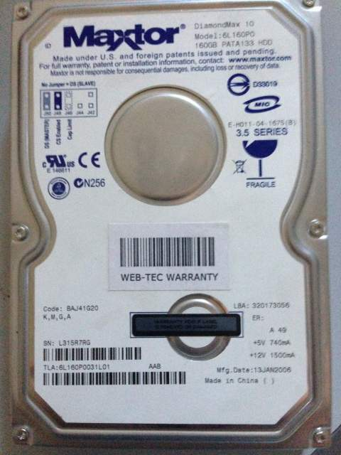 Hard disk 160 gb + casing nuovo