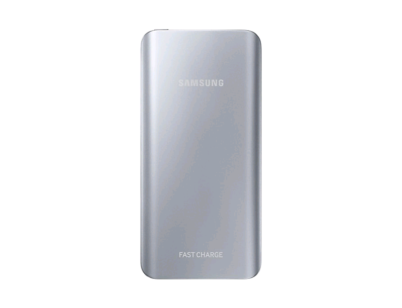 Samsung power bank 5200 mAh fast charge colore silver.