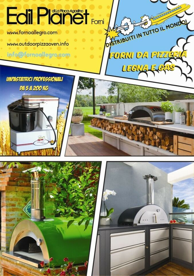 Forno pizza a legna / gas varie tipologie 2