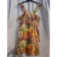 Vestito positano 100%cotone colorato fiori donna