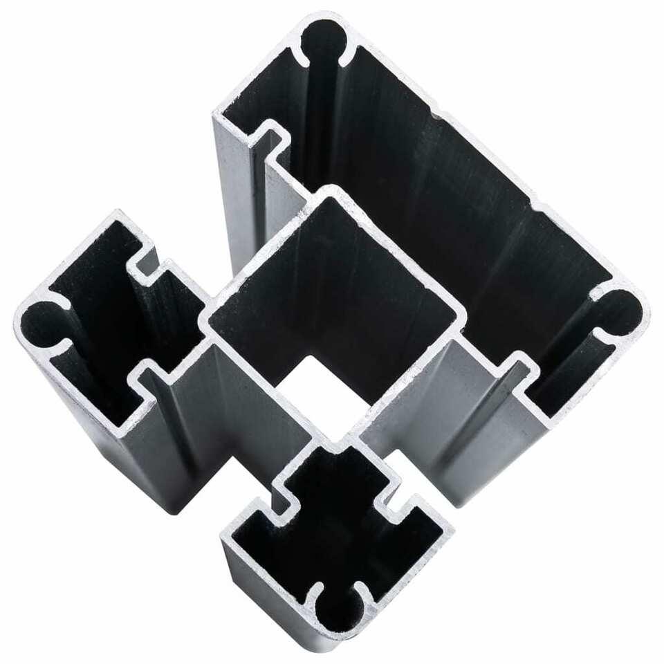 Pannello di Recinzione in WPC 180x186 cm Nero 7